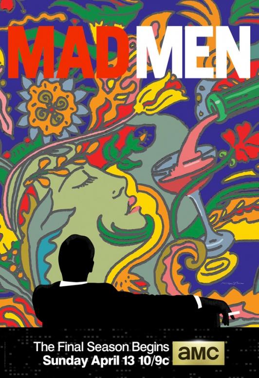mad men season 7 poster psychedelic