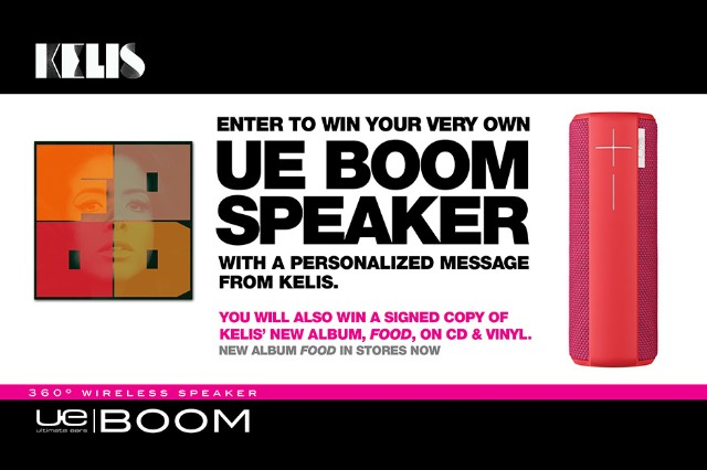 UE Boom Speaker, Kelis, contest
