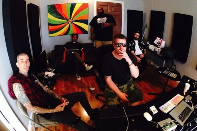 Run the Jewels, Killer Mike, El-P, Rage Against the Machine's Zack de la Rocha, Blink-182's Travis Barker