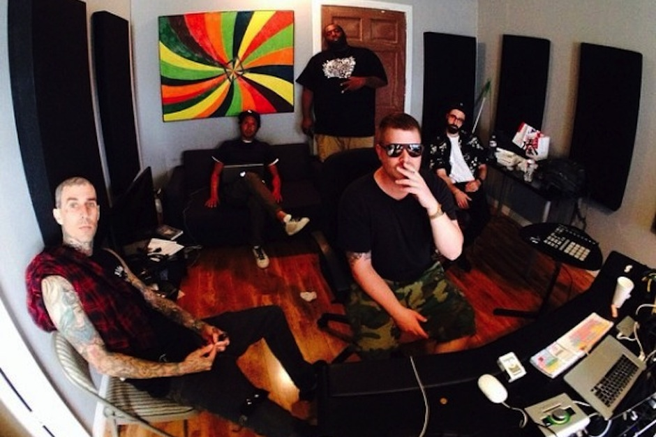 Run the Jewels, Killer Mike, El-P, Rage Against the Machine's Zack de la Rocha, Blink-182's Travis Barker