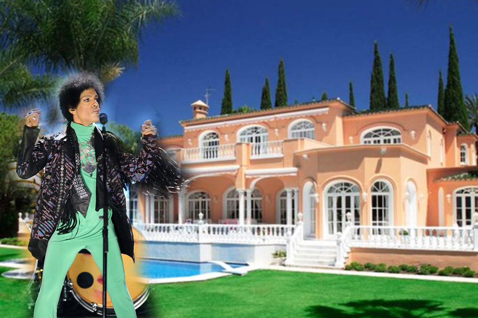 Sign o the times prince s spanish villa for sale spin for Spanish villa house