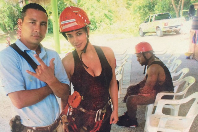 Sad Kanye zipline picture kim