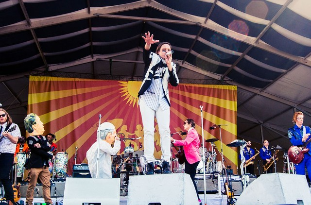 Arcade Fire at New Orleans Jazz and Heritage Festival, New Orleans, May 2 to 4 , 2014 / Photo by Caitlyn Ridenour
