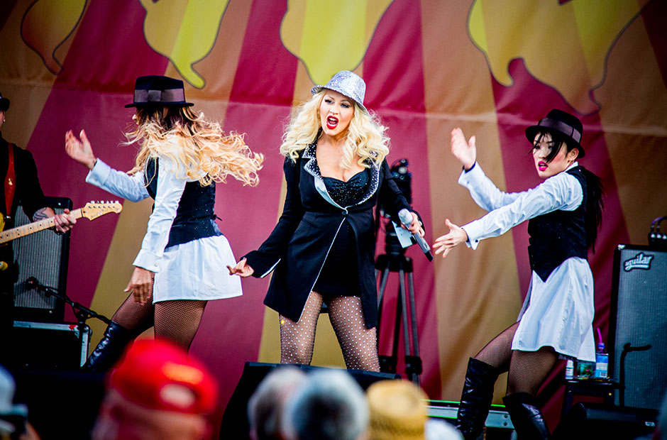 Christina Aguilera at New Orleans Jazz and Heritage Festival, New Orleans, May 2 to 4 , 2014