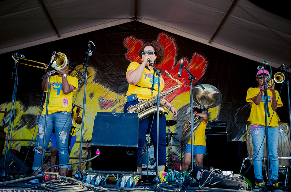 Original Pinettes Brass Band @ Jazz & Heritage Stage