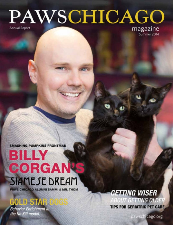 Billy Corgan Paws Chicago Magazine Cover