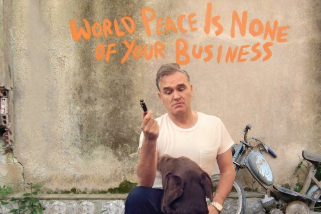 Morrissey's earth isn't the loneliest place on the cover of his 'World Peace Is None of Your Business' album