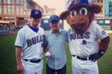 Mac McCaughan Throws First Pitch for Durham Bulls' Merge Records Night