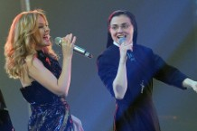 Kylie Minogue The Rock 3D Earthquake Movie