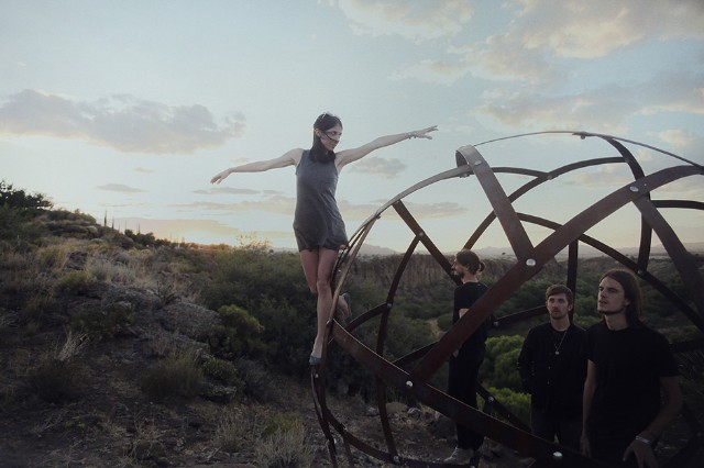 Hundred Waters. L-R: Nicole Miglis, Paul Giese, Zach Tetreault, Trayer Tryon