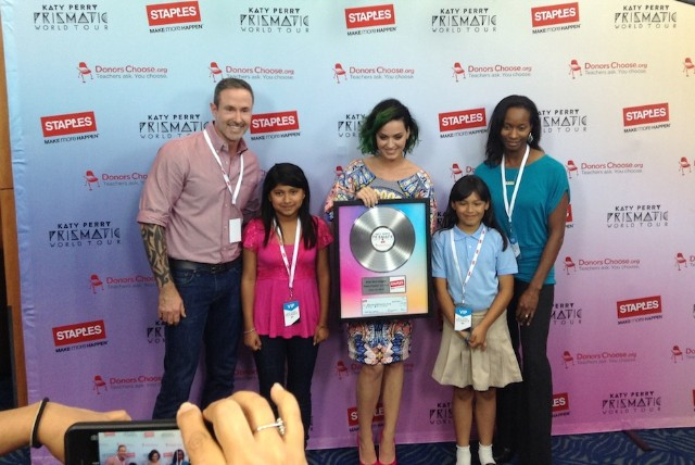 Katy Perry Staples Million Dollar Donation Teachers
