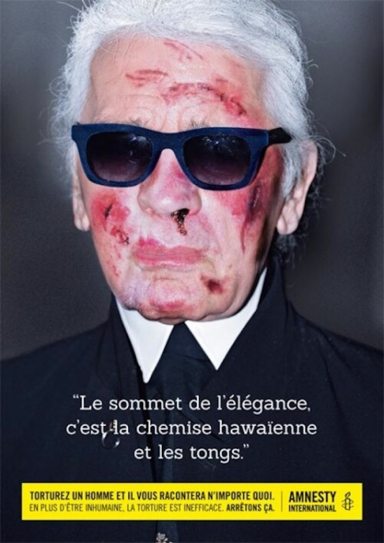 Karl Lagerfeld Amnesty International Torture
