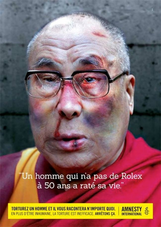 Dali Lama Tourture Amnesty International