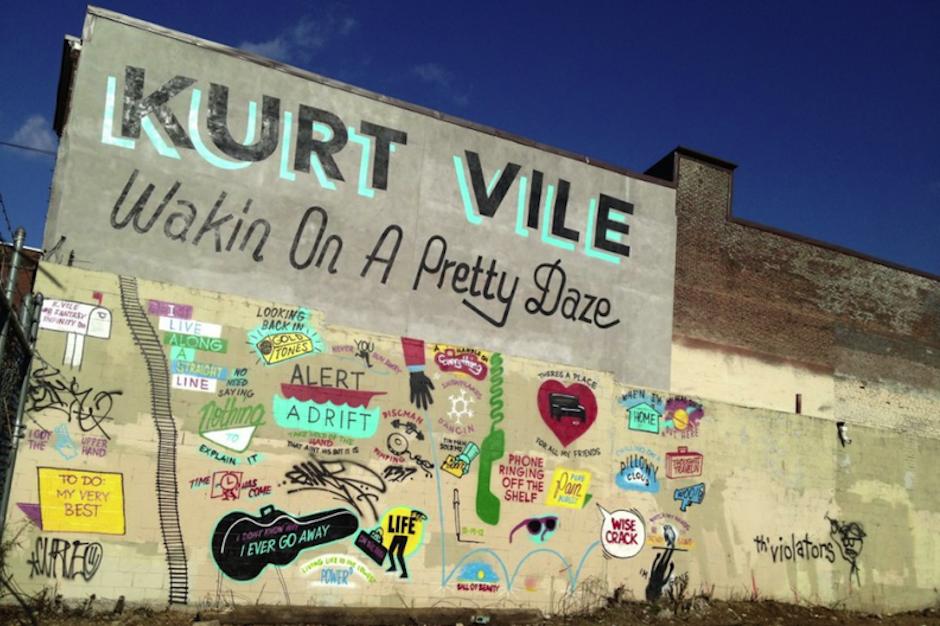 Kurt Vile Mural Philadelphia Whitewashed Defaced