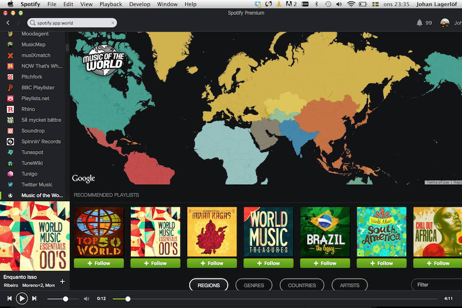 spotify map app spotlights music of the world spin