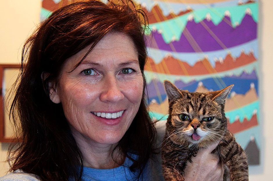 Lil BUB with Kelley Deal