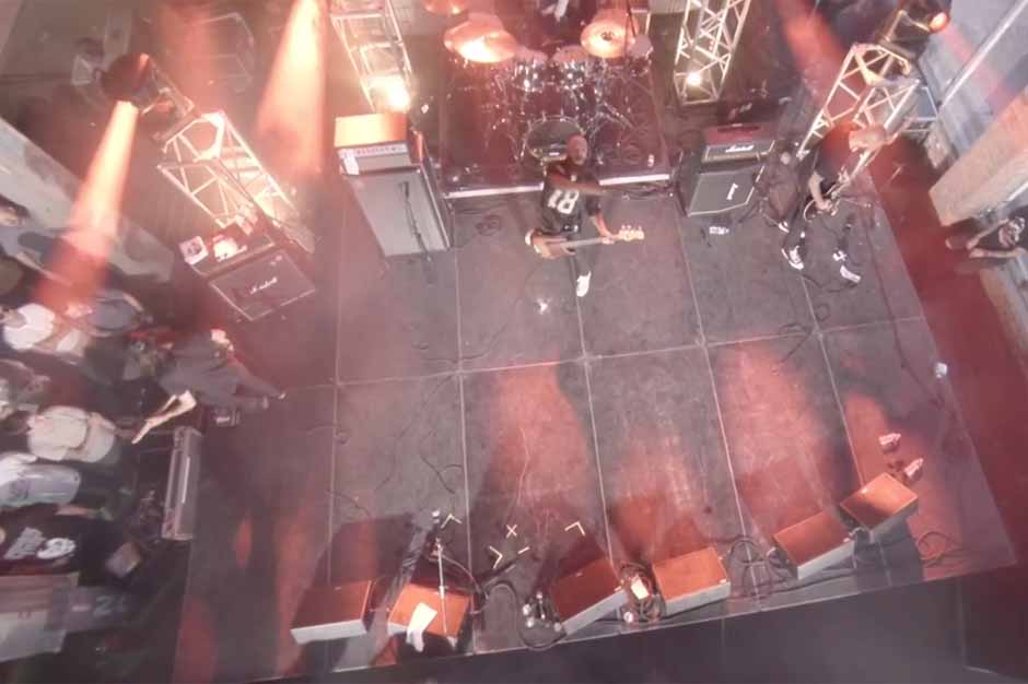 Trash Talk Bassist Throws Beer at Drone, Scores