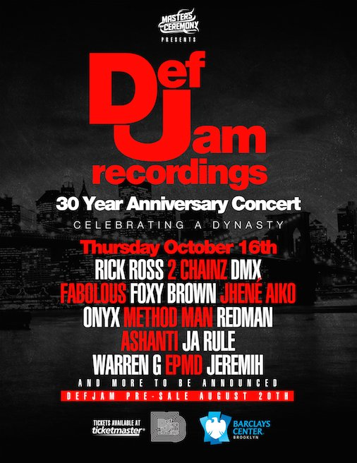 Def Jam 30th Anniversary Concert Rick Ross Ja Rule DMX 2 Chainz