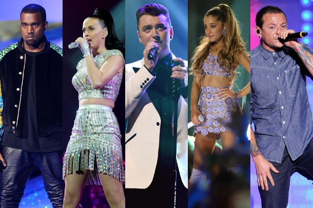 Linkin Park Ariana Grande Sam Smith Katy Perry