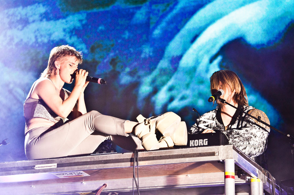 Robyn and Röyksopp at Pier 97, New York, August 20, 2014