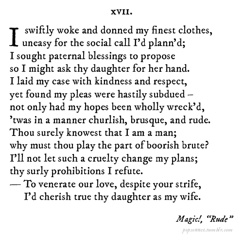 Pop Sonnets' Tumblr Turns Top 40 Songs Into Shakespearean Poetry ...