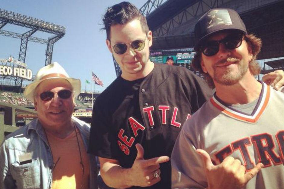 Jack White Eddie Vedder Paul Simon Seattle Mariners Game
