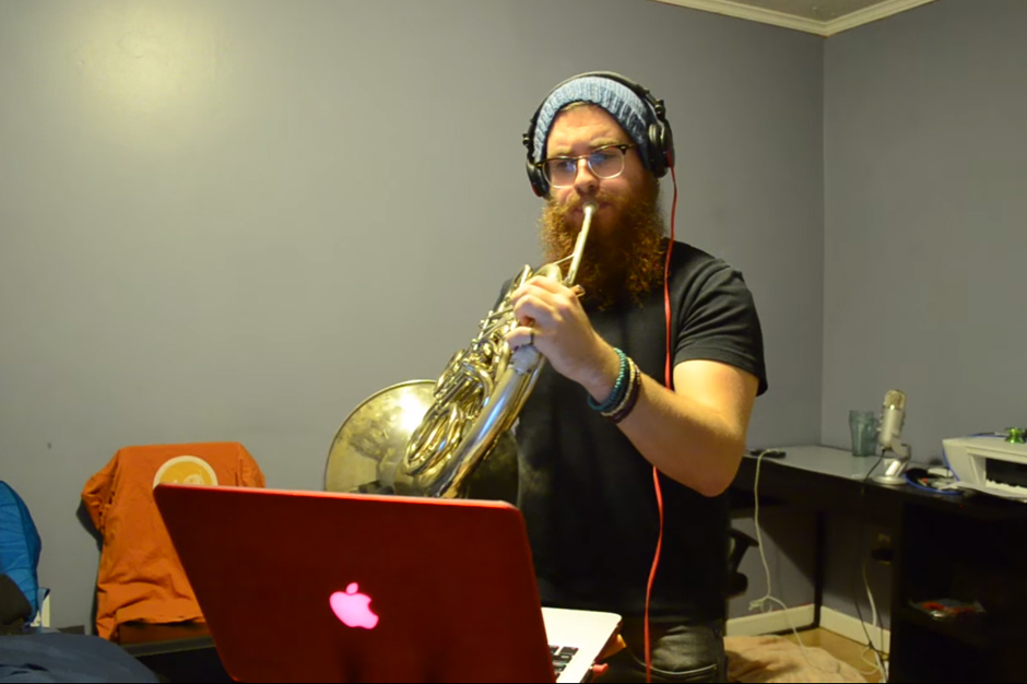 A French Horn Player Totally Owns This Hey Ya Cover Spin