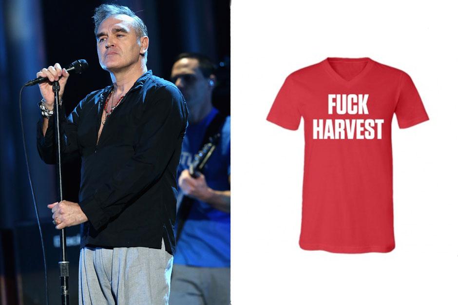 morrissey, knockoff, t-shirt, harvest, records, label