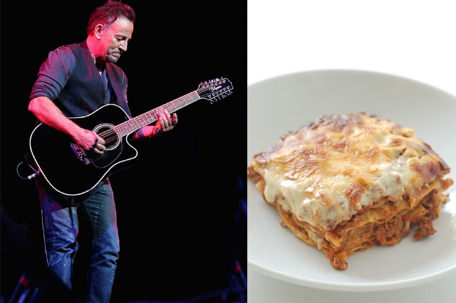 Bruce Springsteen, Lasagna, Auction, Guitar Lessons