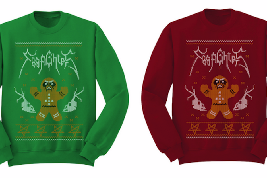 Check Out Foo Fighters Hilarious Black Metal Christmas Sweaters Spin