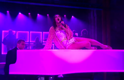 See Charli XCX Perform 'Need Ur Love' Atop a Piano for 'Letterman'