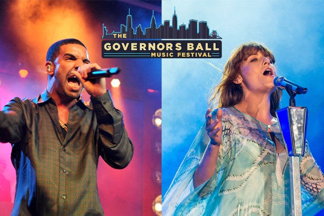 governors ball, drake, florence and the machine