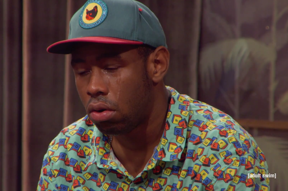 tyler the creator shows up on �the eric andre show� to