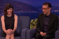 Carrie Brownstein and Fred Armisen Joke About Sleater-Kinney on 'Conan'