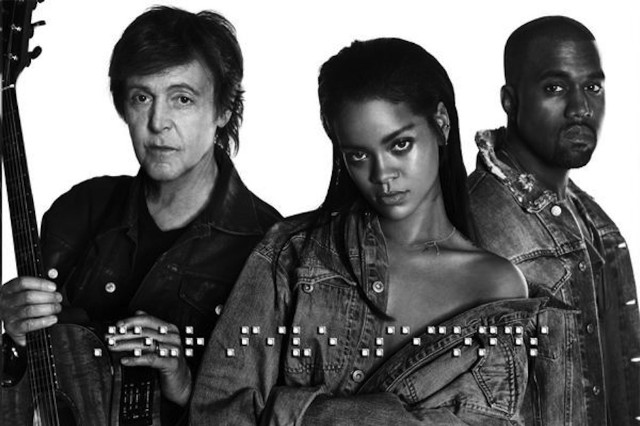Rihanna Paul McCartney Kanye West FourFiveSeconds Collaboration Stream