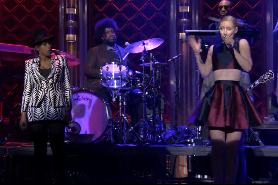 Iggy Azalea and Jennifer Hudson Get in 'Trouble' With the Roots