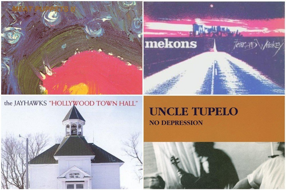 Meat Puppets, Mekons, Uncle Tupelo and Jayhawks alt-country album covers