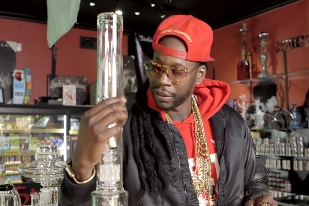 Happy 4 20 Here S 2 Chainz Hitting A 10 000 Bong Spin