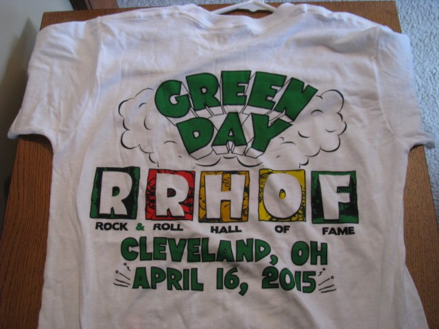 Green Day limited edition shirt