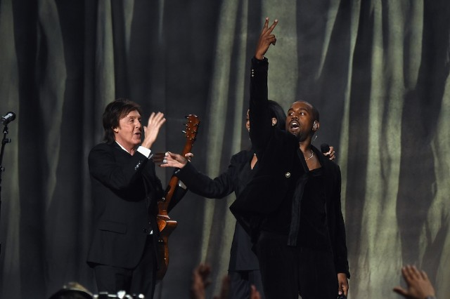Paul McCartney, Kanye West, and a secluded Rihanna at the Grammys
