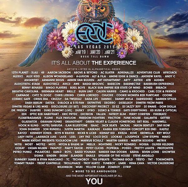 EDC Las Vegas 2015 lineup