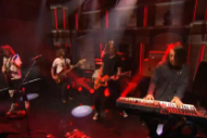 Desaparecidos Blast Through 'City on the Hill' on 'Seth Meyers'