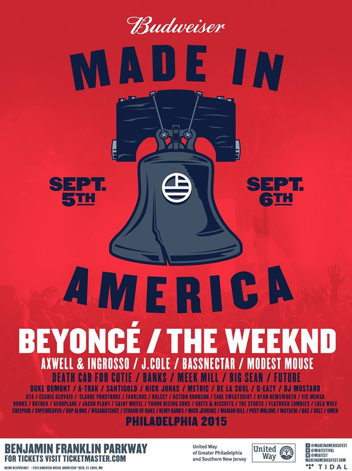 made in america 2015 lineup beyonce the weeknd and more spin. Black Bedroom Furniture Sets. Home Design Ideas