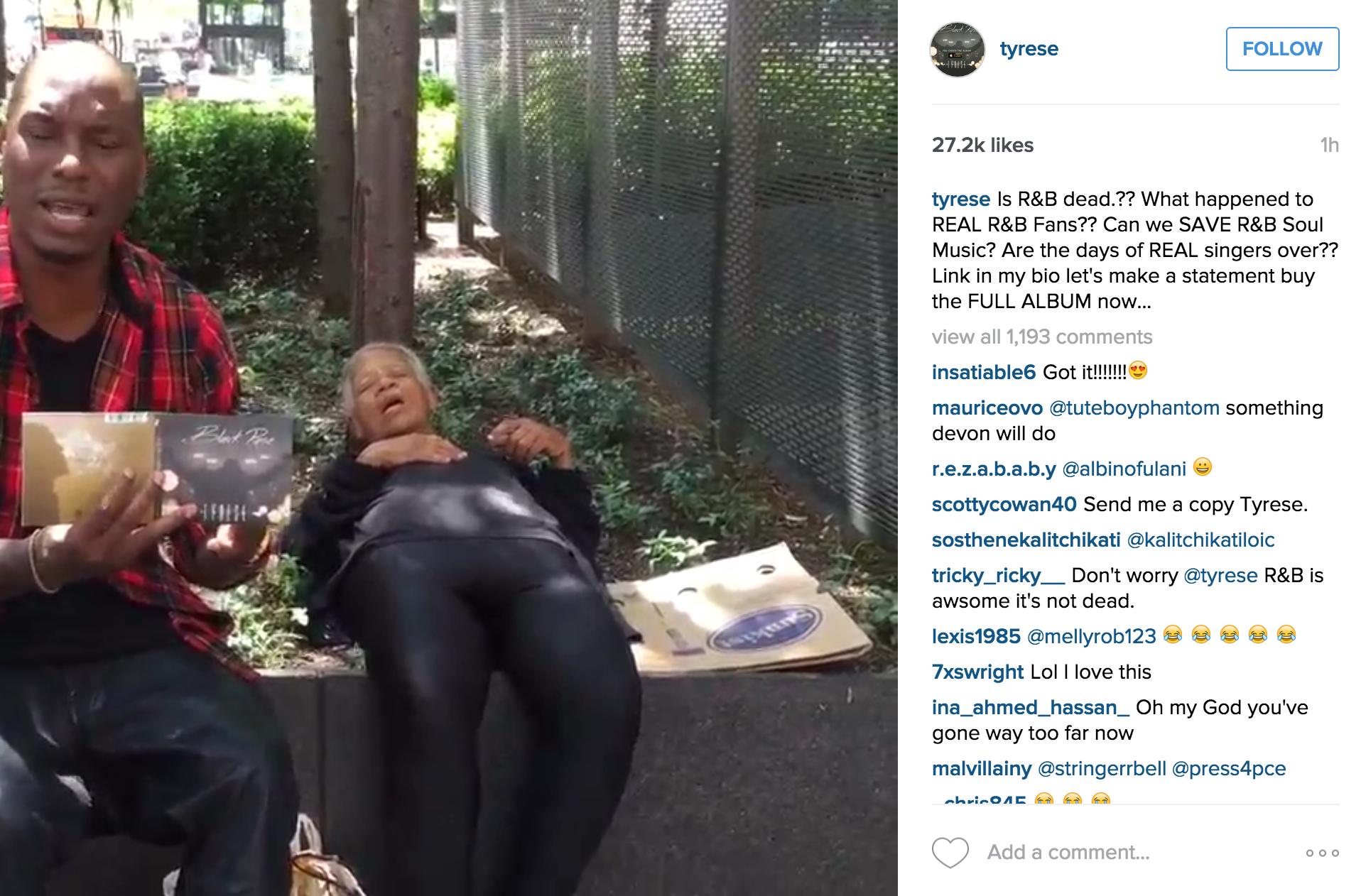 Tyrese Instagram homeless