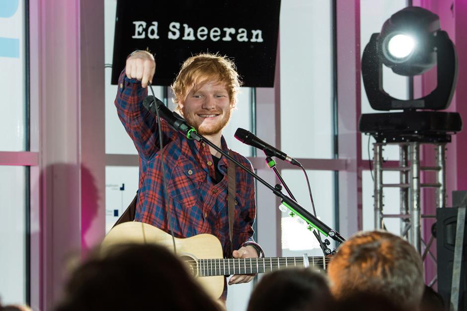 Ed Sheeran Performs At Telekom Street Gig At Zugspitze