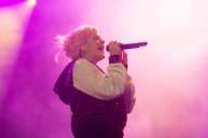 Lily Allen Burns a 'F—k Off Kanye' Flag Off-Stage at Glastonbury