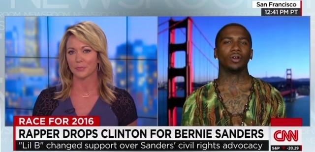 Lil B and CNN host Brooke Baldwin