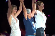 Taylor Swift Dances to 'Style' With Julia Roberts and Joan Baez