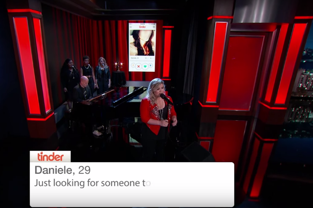 kelly-clarkson-invincible-tinder-profile-jimmy-kimmel