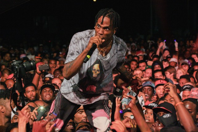 Travi$ Scott Wears Reebok Ventilators At Trillectro Music Festival